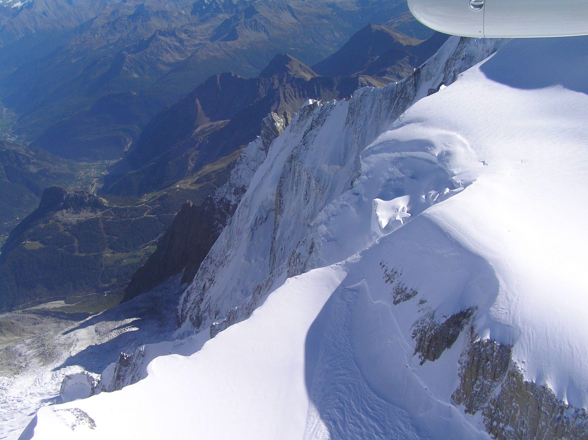 Rundflug Schweiz - Nicht weit weg vom Mont Blanc